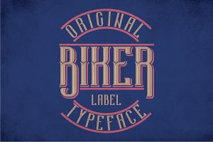 Biker Modern Label Typeface
