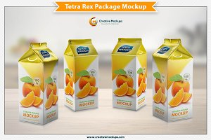 Tetra Rex Carton Package Mockup