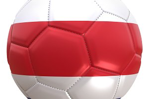 Costa Rica soccer ball flag