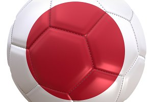 Japan soccer ball flag