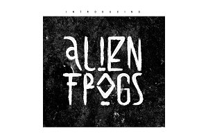 Alien Frogs Brush Font