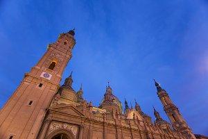 Basilica del Pilar in Zaragoza in Sp