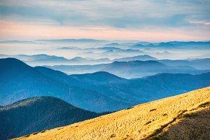 View from mountain ridge