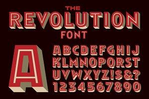 Revolution Display Font