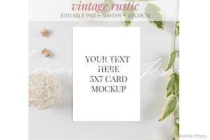 Greenery Invitation Mockup