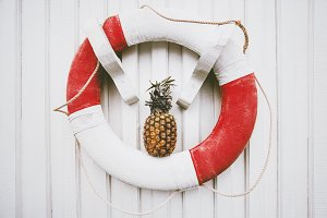 Summer travel vacations Pineapple