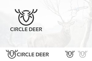 Abstract Outline Deer Logo
