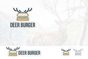 Deer Horn Burger Menu Logo