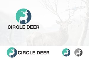 Deer Logo Circle Roe Logo