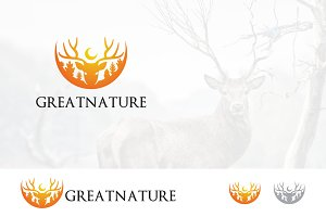 Great Nature Forest Deer Logo