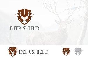 Head Roe Deer Logo Guard Shield