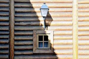 Ancient wooden house from logs