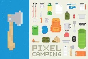 Pixel camping set