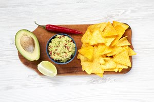 Bowl of traditional mexican guacamol