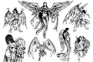 Angels & Demons - Hand Drawn Sketch