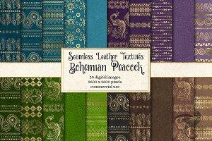 Bohemian Peacock Digital Paper