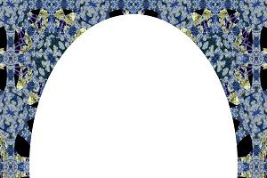 Circle Frame Background with Decorated Borders