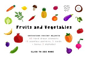 Fruits and Vegetables - Vector Kit