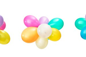 Set multicolored balloons