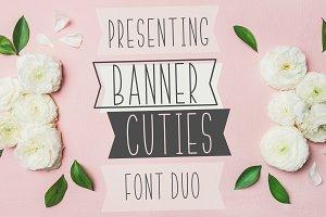 BANNER CUTIES - Font Duo