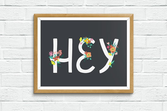 Floral Alphabet and Numbers in Illustrations - product preview 5