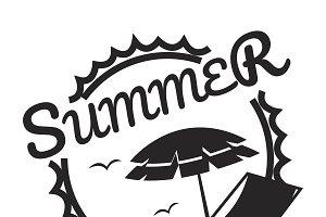 Summer break illustration typography