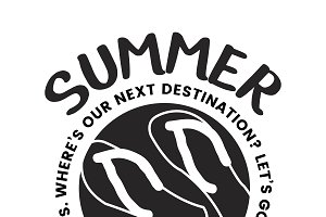 Summer break typography