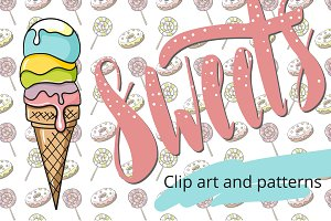 Sweets! Clip art and patterns