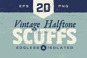 Vintage Halftone Scuffs