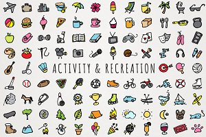 Activity & Recreation Icons Clipart