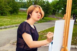 Artist pains summer park