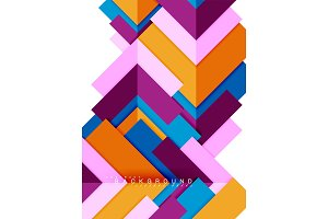 Multicolored abstract geometric shapes, geometry background for web banner