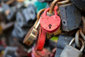 Heart lock for lovers