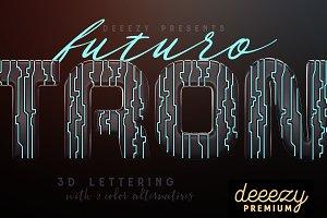 Tron Futuro – 3D Lettering