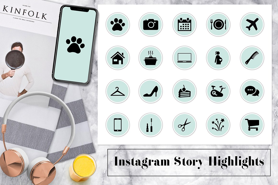 Mint Instagram Story Icons