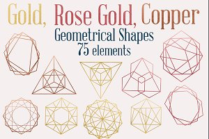 Metallic Geometric Shapes