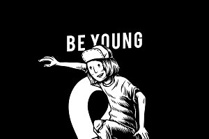 Be young and wild illustration