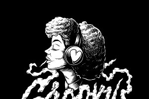 Illustration of Groovy afro music