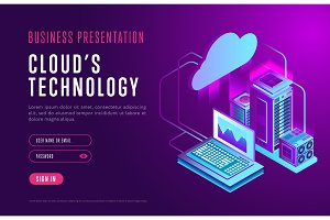Webpage design about cloud database technology
