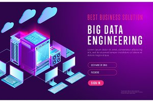 Bright design of big data webpage