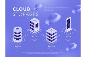 Connected databases with cloud storages