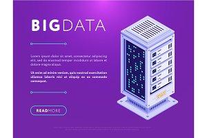 Big data center base illustration