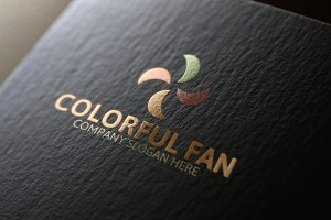 Colorful Fan Logo