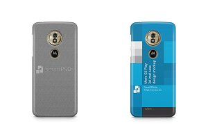 Moto G6 Play 3d IMD Case Mockup