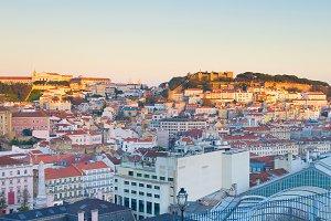 Lisbon skyline viewpoint. Portugal