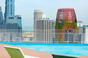 Roof top deckchairs Singapore
