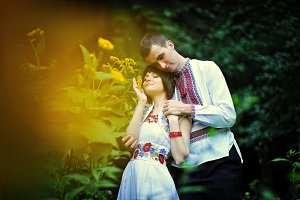 couple in national dress