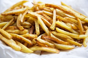 French fries, close up.