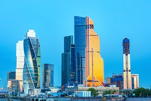 Russia, Moscow, 23/05/18. Moscow City - view of skyscrapers