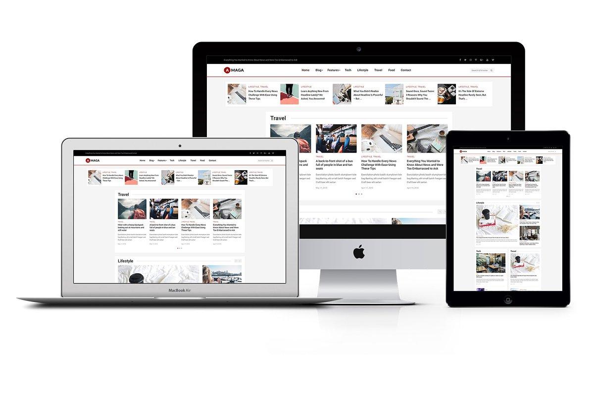 Amaga - News, Magazine, Blog Theme